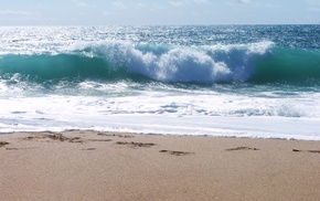 sea, wave, nature, beach, sand