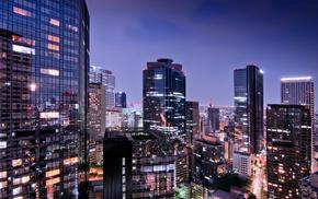 cities, Japan, Tokyo, lights