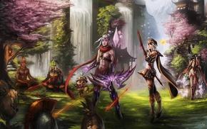 Ashe, Fiddlesticks, varus, Teemo, Ahri, Master Yi