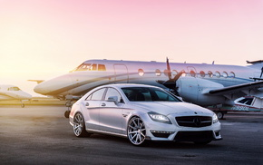 Mercedes-Benz, cars, tuning, airplane