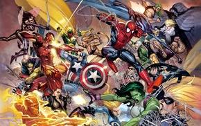 железный человек, Халк, Комиксы Марвел, паук, мужчина