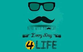 nerds, mustache, moustache
