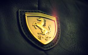 macro, gold, Ferrari