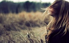Zara Jay, filter, hair in face, girl outdoors, girl, blonde