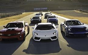 Camaro, Nissan GTR, car, race cars, McLaren MC4, 12C