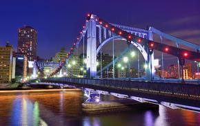 bridge, Japan, cities, Tokyo
