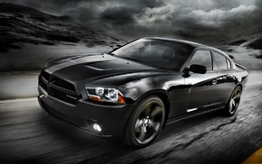 car, muscle cars, monochrome, Dodge Charger