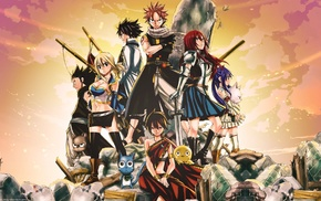 Happy Fairy Tail, Fullbuster Gray, Dragneel Natsu, Heartfilia Lucy, Fairy Tail, Scarlet Erza