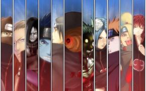 Konan, Naruto Shippuuden, Orochimaru, panels, Kakuzu, Deidara