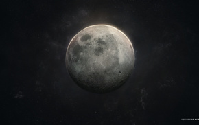 space, stars, moon