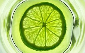 цитрус, вода, стакан, зеленый, Лайм, фрукт