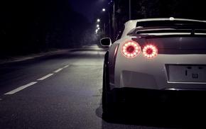 white, Nissan Skyline GT, R, Nissan GT, Nissan, car