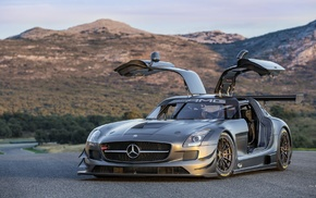 car, Mercedes, AMG, Mercedes SLS, coupe, German cars