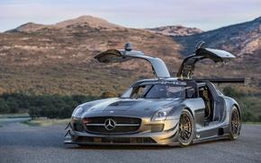 машина, Mercedes, amg, купе, гоночные машины