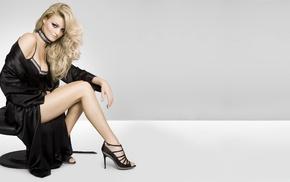 blonde, girl, high heels