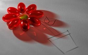 macro, paper, drawing, flower