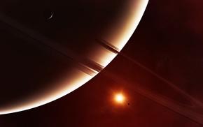 star, rings, space