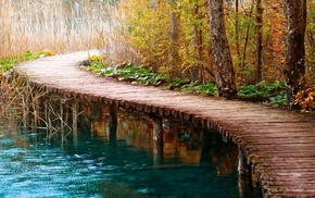 вода, путь, мост, природа