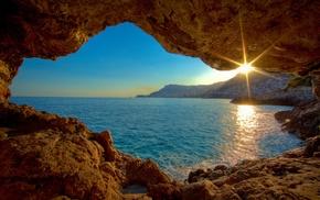 cave, sea