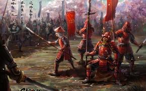 sword, gun, army, Asian, armor