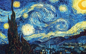 artwork, Vincent van Gogh, classic art, The Starry Night
