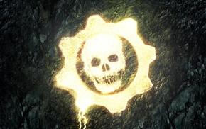 skull, Gears of War, video games