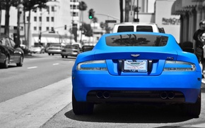 Aston Martin, синие машины, спортивная машина, машина