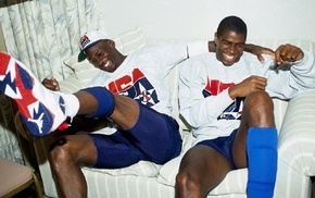NBA, USA, basketball, Magic Johnson, Michael Jordan