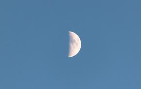 sky, moon, space, satellite