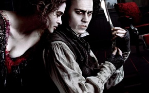 movies, Johnny Depp, Sweeney Todd The Demon Barber of Fleet Street, Helena Bonham Carter