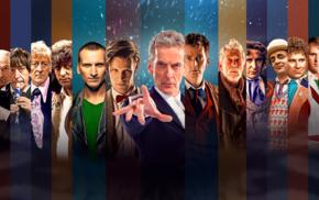 Christopher Eccleston, Tom Baker, Peter Capaldi, Doctor Who, The Doctor, David Tennant