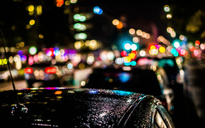 city, bokeh, rain, cities, night