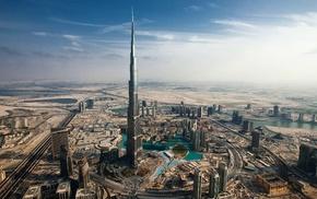cityscape, city, Burj Khalifa, building, Dubai
