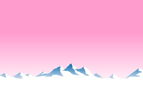 pink, EvianWater, mountain, landscape