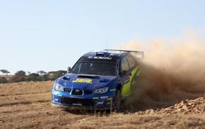 race, speed, Subaru, blue, cars