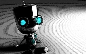 robot, concept art, Invader Zim, artwork, digital art, Gir