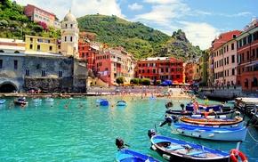 город, лодки, italy, италия, пляж, города