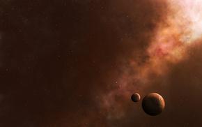 art, satellite, stars, space, planet