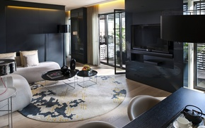 interior, design, style, black, room
