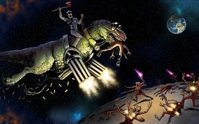 динозавры, космос, юмор