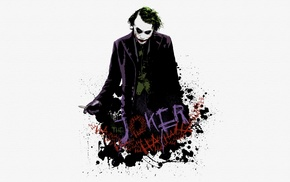white background, movies, The Dark Knight, MessenjahMatt, Joker, paint splatter