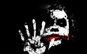 movies, The Dark Knight, Batman, Joker, paint splatter
