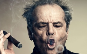 actor, Jack Nicholson, cigars, smoking
