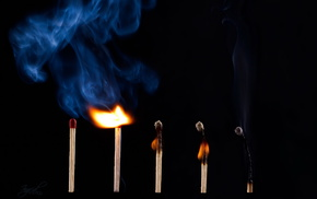 smoke, macro, fire