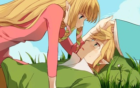 Link, The Legend of Zelda, couple, anime, Zelda, Princess Zelda