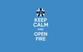 Keep Calm and..., blue, anime, Girls und Panzer