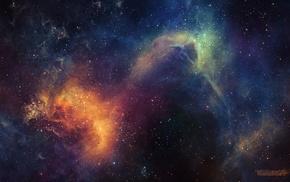 космос, абстрактные, цифровое искусство, туманность, космический арт