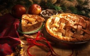 ribbon, desserts, food, pies, apples
