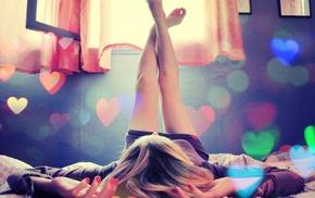 ножки, ноги вверх, девушка