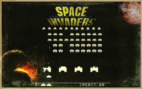 video games, retro games, Space Invaders